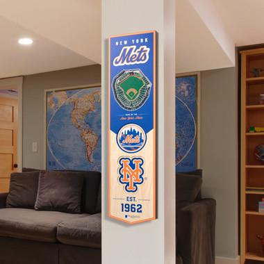 New York Mets 8 x 32 3D StadiumView Banner