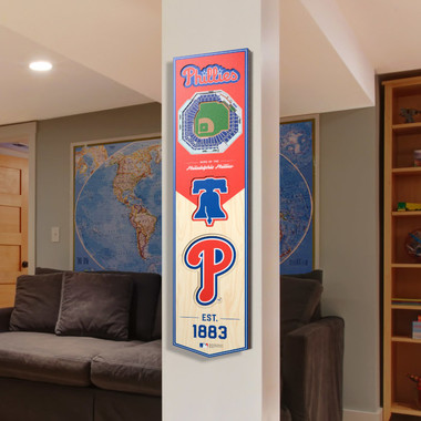 Philadelphia Phillies 8 x 32 3D StadiumView Banner