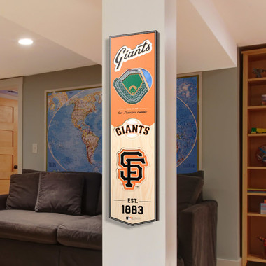 San Francisco Giants 8 x 32 3D StadiumView Banner