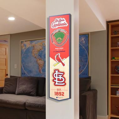 St. Louis Cardinals 8 x 32 3D StadiumView Banner