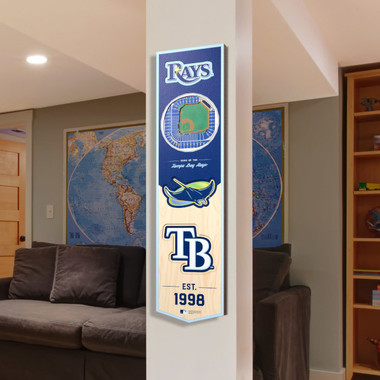 Tampa Bay Rays 8 x 32 3D StadiumView Banner