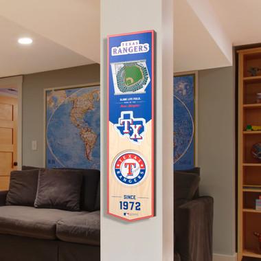 Texas Rangers 8 x 32 3D StadiumView Banner