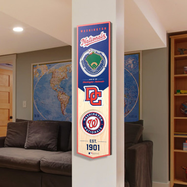 Washington Nationals 8  x 32 3D StadiumView Banner