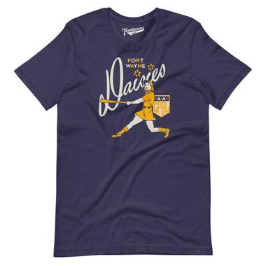 Unisex Teambrown Fort Wayne Daisies AAGPBL Baseball Shirt