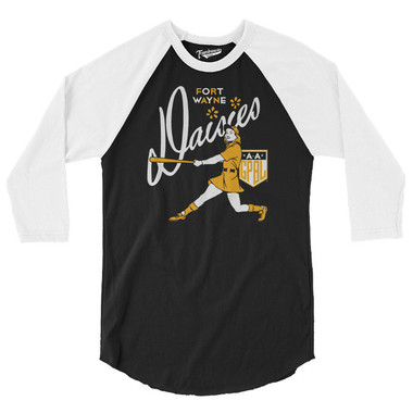 Unisex Teambrown Fort Wayne Daisies AAGPBL Longsleeve Baseball Shirt