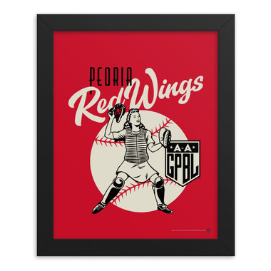 Teambrown Peoria Redwings Artwork Framed 8 x 10 Print