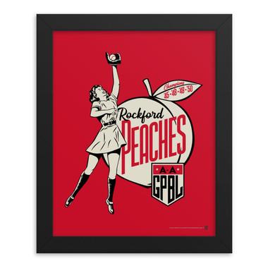 Teambrown Rockford Peaches Artwork Framed 8 x 10 Print