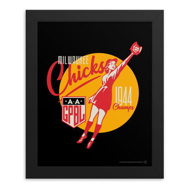 Teambrown Milwaukee Chicks Artwork Framed 8 x 10 Print