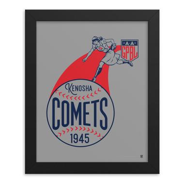 Teambrown Kenosha Comets Artwork Framed 8 x 10 Print