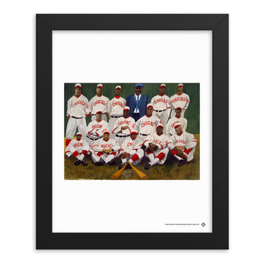Teambrown Chicago American Giants Artwork Framed 8 x 10 Print