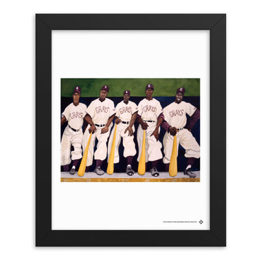 Teambrown Homestead Grays Dugout Painting Artwork Framed 8 x 10 Print