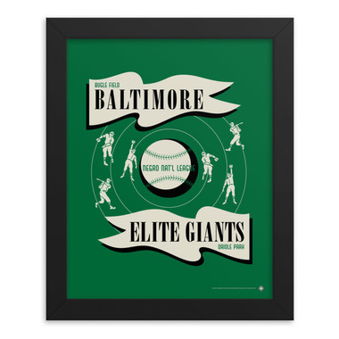 Teambrown Baltimore Elite Giants Artwork Framed 8 x 10 Print