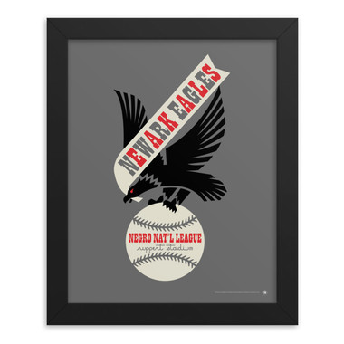 Teambrown Newark Eagles Artwork Framed 8 x 10 Print