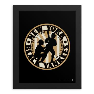 Teambrown New York Black Yankees Artwork Framed 8 x 10 Print