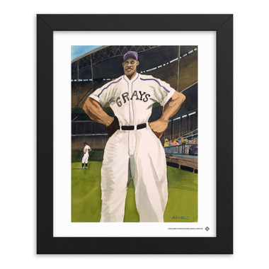 Teambrown Buck Leonard Homestead Grays Artwork Framed 8 x 10 Print