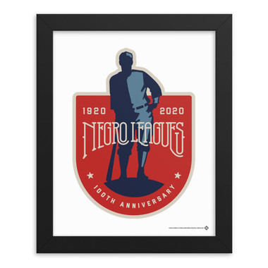 Teambrown Negro Leagues 100th Anniversary Logo Artwork Framed 8 x 10 Print
