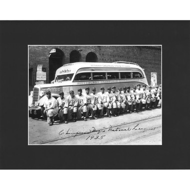 Matted 8x10 Photo- 1935 Pittsburgh Crawfords Team
