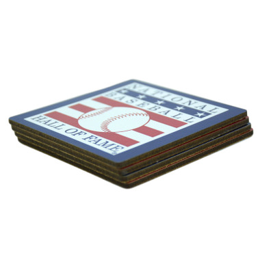 Baseball Hall of Fame Coaster Set of 4