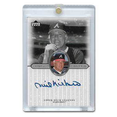 Phil Niekro Autographed Card 2000 Upper Deck Century Legends