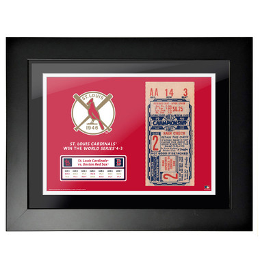 St. Louis Cardinals 1946 World Series Game 2 Framed 18 x 14 Ticket