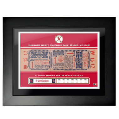 St. Louis Cardinals 1946 World Series Game 1 Framed 18 x 14 Ticket