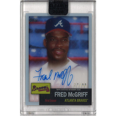 Fred McGriff Autographed Card 2020 Topps Archives Clearly Authentic Ltd Ed of 99