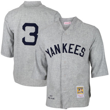 Men's Mitchell & Ness Babe Ruth 1929 New York Yankees Authentic Road Jersey
