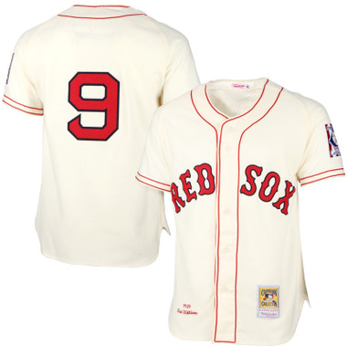 Men's Mitchell & Ness Ted Williams 1939 Boston Red Sox Authentic Home Jersey