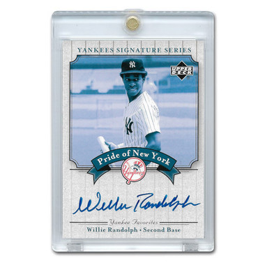 Willie Randolph Autographed Card 2003 Upper Deck Yankees Signature Series #PN-WR