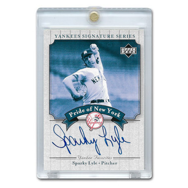 Sparky Lyle Autographed Card 2003 Upper Deck Yankees Signature Series #PN-SL