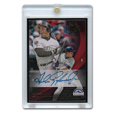 Andres Galarraga Autographed Card 2016 Topps Gold Label Framed Lt Ed of 50