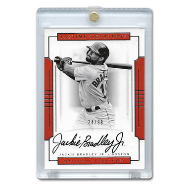 Jackie Bradley Jr. Autographed Card 2017 National Treasures Pastime Signatures Ltd Ed of 99