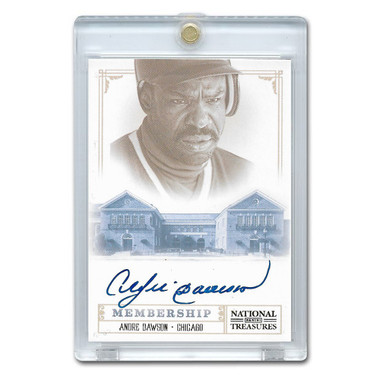Andre Dawson Autographed Card 2014 National Treasures Class of 2010 Ltd Ed of 25
