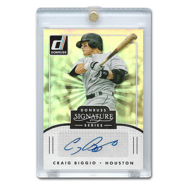 Craig Biggio Autographed Card 2016 Donruss Signature Series # SGS-CB