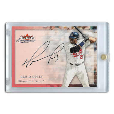 David Ortiz Autographed Card 2001 Fleer Autographics