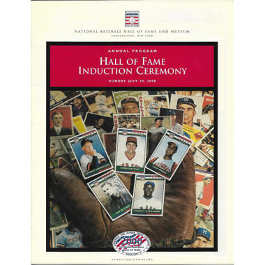 2000 Baseball Hall of Fame Official Induction Program