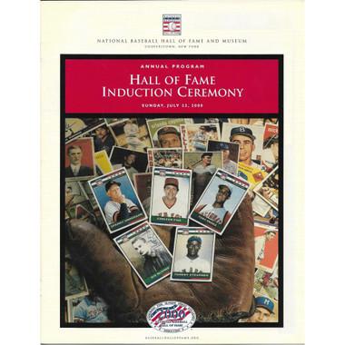 2000 Baseball Hall of Fame Official Induction Program