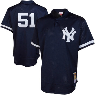 Men's Mitchell & Ness Bernie Williams 1995 New York Yankees Batting Practice Cooperstown Jersey