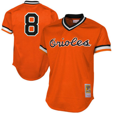 Men's Mitchell & Ness Cal Ripken Jr. 1988 Baltimore Orioles Batting Practice Cooperstown Jersey