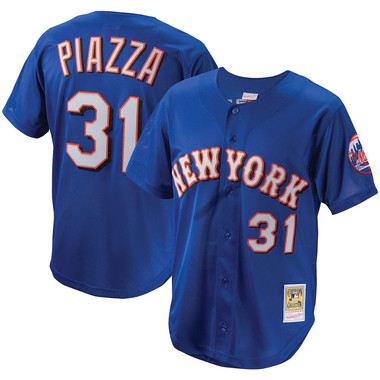 Men's Mitchell & Ness Mike Piazza 1999 New York Mets Batting Practice Cooperstown Jersey