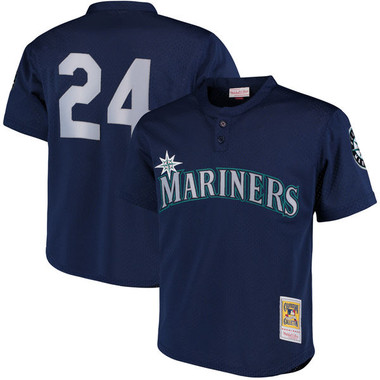 Men's Mitchell & Ness Ken Griffey Jr. 1995 Seattle Mariners Batting Practice Cooperstown Jersey