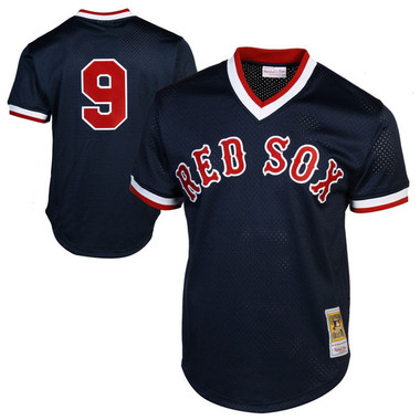 Men's Mitchell & Ness Ted Williams 1990 Boston Red Sox Batting Practice Cooperstown Jersey