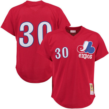 Men's Mitchell & Ness Tim Raines 1989 Montreal Expos Batting Practice Cooperstown Jersey