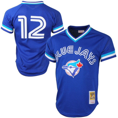Men's Mitchell & Ness Roberto Alomar 1993 Toronto Blue Jays Batting Practice Cooperstown Jersey