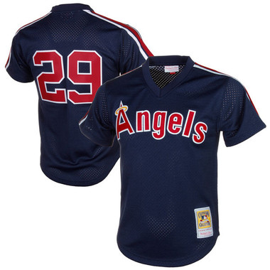Men's Mitchell & Ness Rod Carew 1984 California Angels Batting Practice Cooperstown Jersey