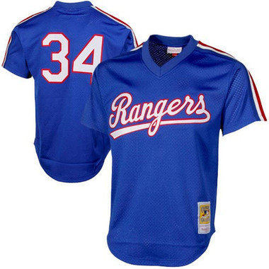 Men's Mitchell & Ness Nolan Ryan 1989 Texas Rangers Batting Practice Cooperstown Jersey