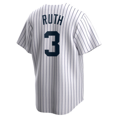 Men's Nike Babe Ruth New York Yankees Cooperstown Collection Navy Pinstripe Jersey