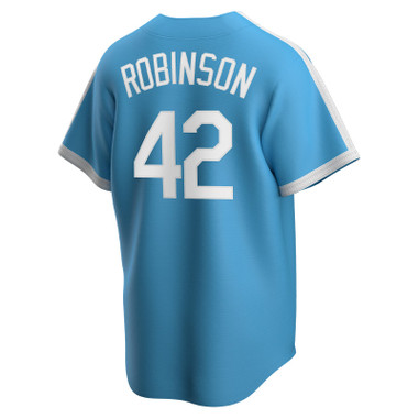 Men's Nike Jackie Robinson Brooklyn Dodgers Cooperstown Collection Light Blue Jersey