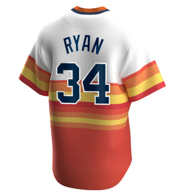 Men's Nike Nolan Ryan Houston Astros Cooperstown Collection Retro Rainbow Jersey