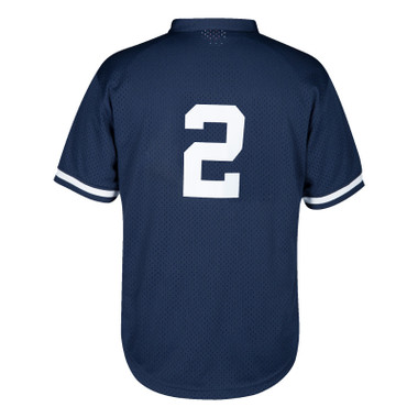 Men's Mitchell & Ness Derek Jeter New York Yankees Authentic Replica 1995 Mesh Batting Practice Jersey